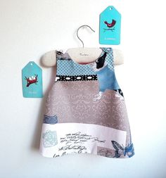 Girls Dress - Reversible Pinafore top or dress - The Marseille - French Style - 6 months to 5Y. $25.00, via Etsy.