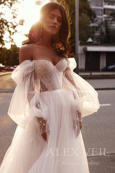 Vestidos Color Pastel, Pastel Color Dress, Cream Wedding Dresses, Wedding Gowns, Lace Wedding, Princess Wedding Dresses, Mermaid Wedding, Stunning Wedding Dresses, Modest Wedding