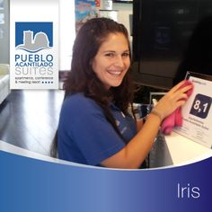 Esta señorita tan encantadora es Iris, la felicidad en persona  Lleva mucho tiempo trabajando con nosotros y muchos podemos afirmar que gracias a ella sonríen hasta las personas más serias