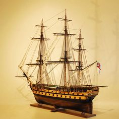 HMS Agamemnon model ship Port Quarter View