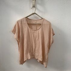 Naturally Dyed Rumpled Crop Top The Husk, Seed Pods, One Size Fits All, All The Colors, Tunic Tops, Subtle Textures, Crop Tops, Cotton, How To Wear
