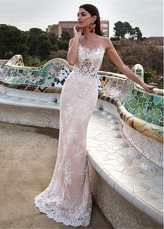 Buy discount Stunning Tulle & Satin Bateau Neckline 2 In 1 Wedding Dresses With Lace Appliques at dressilyme.com