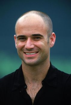 """Andre Aggassi (1970 - ) American Tennis Player - He is the only male singles player in history to have won all four Grand Slam tournaments, the Olympic gold medal and the ATP Tour World Championships: a distinction dubbed as a """"Career Super Slam"""" by Sports Illustrated  - Authored """"Open -  An Autobiography"""" 2010"""
