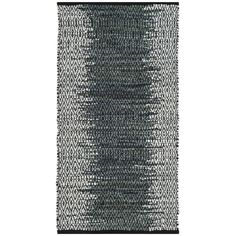 Safavieh Vintage Leather HandWoven Modern Geometric Light Grey/ Charcoal Area Rug (2'3 x 4') (VTL389B-24), Size 2' x 4'
