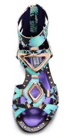 Ivy Kirzhner Babylon Snakeskin Sandals | SHOPBOP
