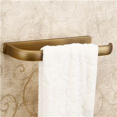 壁掛けタオルバー タオル掛け タオル収納 ハンガー 浴室用品 真鍮製