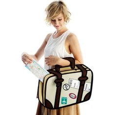 Travel Fever Bag by Jump From Paper - Design Milk 2d Bags, Jump From Paper, Cartoon Bag, Animal Bag, Suitcase Bag, Luggage Cover, Cute Bags, Dot And Bo, Looks Cool