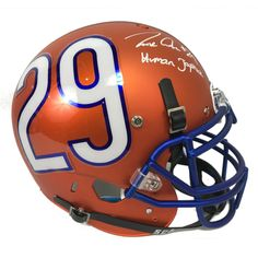 d2a6ddd0a9b Tarik Cohen Autographed Chicago Bears Blue Full Size Helmet w/Inscription  JSA COA Full Sized Helmets