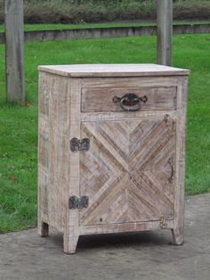 Bedside Cabinet Made From Reclaimed Teak - Indigo Asian Antiques & Interiors UK