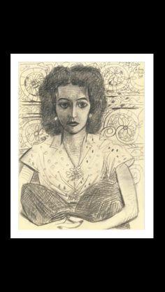 Pablo Picasso - Inès assise,Vallauris 23 VII 1954 - Pencil on paper - 32 x 23,9 cm