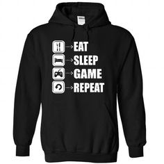 Cool EAT SPEEP GAME REPEAT Shirt T-Shirts