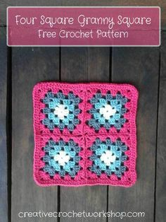 Four Square Granny Square - Free Crochet Pattern | Creative Crochet Workshop