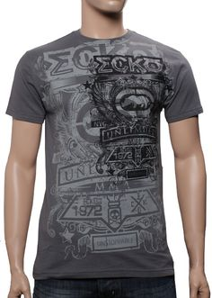 Ecko MMA Rise On T-shirt-Grey I designed this tee for them. art/design by: http://instagram.com/artistdanielquinones you can now find hes art and designs at http://shoppoab.com/
