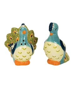 Look at this Peacock Salt & Pepper Shakers on #zulily today!