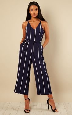 e50221cc99 Be the center of attention in this printed culotte jumpsuit! Look super  cute yet sophisticated in this outfit with the tie in waist band that  instantly ...