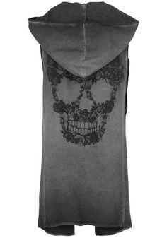 Flower Skull Vest - Vest by Fashion Victim