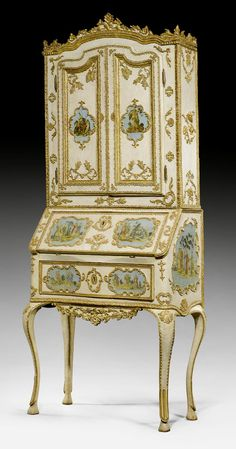 PAINTED TRUMEAU,  Louis XV, Northern Italy, ca. 1760.
