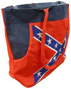 Confedate Rebel Battle Flag Tote Bag