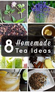 Make your own homemade tea blends with these 8 recipes! Homemade Tea, Homemade Detox, Healthy Meals To Cook, Healthy Drinks, Healthy Recipes, Detox Tea Diet, Detox Foods, Blended Coffee Drinks, Vegan Comfort Food