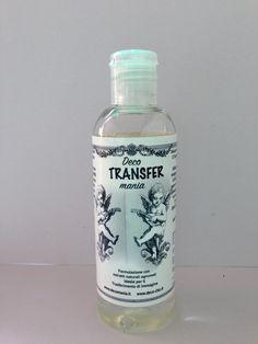 Liquido Deco-TRANSFR-mania, liquido incolore per il trasferimento d'immagine. Disponibile su www.deco-chic.it