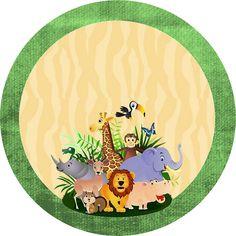 Safari Animais- Kit Completo com molduras para convites, rótulos para guloseimas, lembrancinhas e imagens – Cumpleaños Jungle Theme Cakes, Safari Theme Birthday, Safari Cakes, Baby Boy 1st Birthday, Safari Party, Safari Animals, Baby Party, Animal Party, Kids Cards