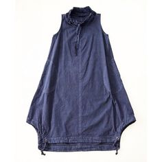 Funnel Long Tunic Indigo some alterations on Tosca pattern would be easy to do