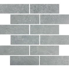 Style Selections Skyros Gray Glazed Porcelain Mosaic Subway Indoor/Outdoor Floor Tile (Common: 12-in x 15-in; Actual: 11.75-in x 14.75-in)
