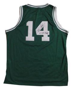 ... Bob Cousy Autographed Boston Celtics Signed Basketball Jersey 6 x NBA  Champ JSA COA ... ffecda1c7
