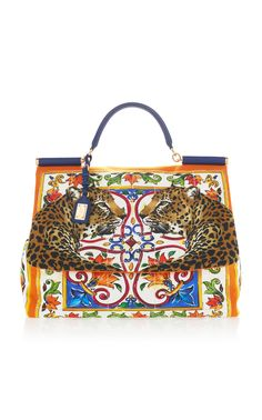 4a49de55325f Dolce   Gabbana Printed Canvas And Leather Shoulder Bag Expected to ship by  May 2018