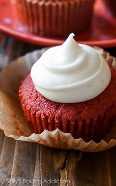 Red Velvet Cupcakes by Sallysbakingaddiction.com