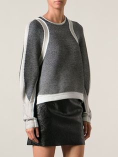 Helmut Lang Converging Panel Sweater - - Farfetch.com