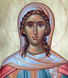 Euphemia the Great Martyr - September 16 Byzantine Art, I Icon, Orthodox Icons, Disney Characters, Fictional Characters, Saints, Aurora Sleeping Beauty, Princess Zelda, September 16
