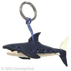 SQUALO - Shark Italian Leather Key Chain
