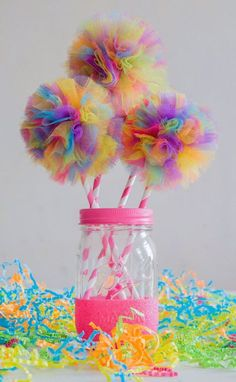 38 super ideas for birthday party dcoration trolls Trolls Birthday Party, Troll Party, Unicorn Birthday Parties, First Birthday Parties, 2nd Birthday, First Birthdays, Birthday Ideas, Rainbow Unicorn Party, Rainbow Birthday Party