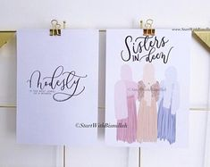 Etsy :: Your place to buy and sell all things handmade Islamic Decor, Islamic Wall Art, Islamic Gifts, Brush Lettering, Hand Lettering, Personalized Bookmarks, Islam For Kids, Couple Art, Nursery Prints