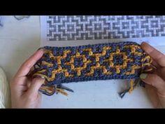 "Орнамент ""Геометрический"". Вяжем самый нескучный плед в мире - YouTube Crochet Stitches Chart, Tapestry Crochet Patterns, Crochet Cat Pattern, Smocking Patterns, Mosaic Patterns, Cute Crochet, Crochet Blocks, Crochet Squares, Crochet Videos"