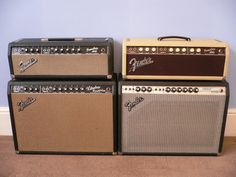 Silverface Fender Vibrolux. The Tremolux on top is another toy I'd like...