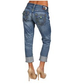 THESE JEANS ARE ONLY $250.00        LOL !  ONLY !       True Religion Cameron Boyfriend Vintage .