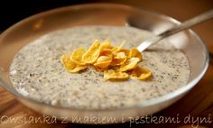 porridge - owsianka Ale, Oatmeal, Pudding, Drink, Breakfast, Desserts, Food, The Oatmeal, Morning Coffee