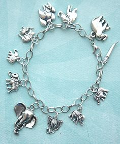Charms Jewelry elephant charm bracelet - Jillicious charms and accessories - This charm bracelet features elephant tibetan silver charms. The charms are attached to a silver tone chain bracelet that measures inches in length. Cute Jewelry, Charm Jewelry, Jewelry Gifts, Jewlery, Unique Jewelry, Turquoise Jewelry, Silver Jewelry, Silver Rings, Elephant Jewelry