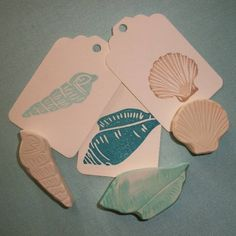 Sea Shell Stamp Set by EnchantingStamps on Etsy