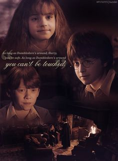 "Harry, Ron, and Hermione- ""Where's Dumbledore?"" Professor McGonagall- ""He's Gone"""
