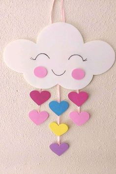 diy decoracao festa chuva amor eva for likes pictures Spring Crafts For Kids, Paper Crafts For Kids, Diy Home Crafts, Craft Activities For Kids, Summer Crafts, Preschool Crafts, Easter Crafts, Diy For Kids, Foam Crafts