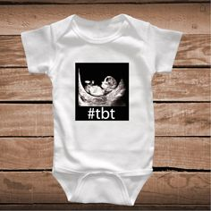 TBT Clever Baby Onesies, Bibs or Tees _ tbt funny Tees _ Toddler Crawlers _ Custom Baby Clothes _ Funny T-shirts for Kids _ Prime Decals