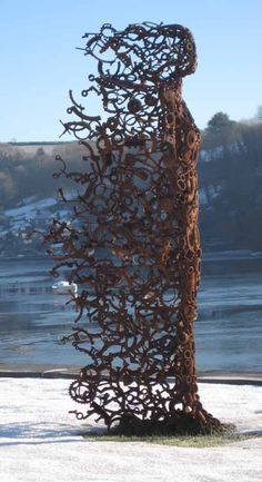 """You Blew Me Away"" sculpture by Penny Hardy ~ LOVE this piece, creative in concept and name both, with amazing execution.  See that which doth inspire, to which I most aspire.  :)"