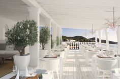 Ibiza style..Restaurant interior design inspiration byCOCOON.com #COCOON Dutch designer brand. >Cotton Beach Club, Ibiza<