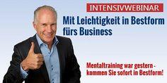 Kostenloses live Intensivwebinar mit Thomas Schlechter Mental Training, Internet Marketing, Fictional Characters, Life, Online Marketing, Fantasy Characters