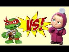 Masha and the Bear VS Teenage Mutant Ninja Turtles TMNT - Eggs and Toys TV
