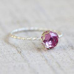 Sapphire gemstone ring pink gemstone ring - praxis jewelry $32.00