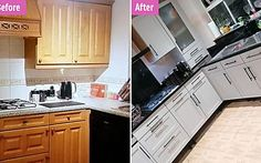 Couple quoted £10k for their kitchen transform it for a tenth of the price Design 24, Retro Design, Weird Wedding Dress, Wedding Dresses, Gothic Themes, Zombie Bride, Gold Everything, See Through Dress, Oven Cleaning
